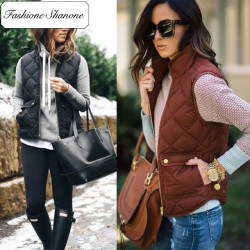 Fashione Shanone - Limited stock - Sleeveless quilted jacket