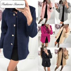 Fashione Shanone - Stock limité - Manteau cintré boutonné