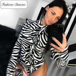 Fashione Shanone - Limited stock - Zebra bodysuit