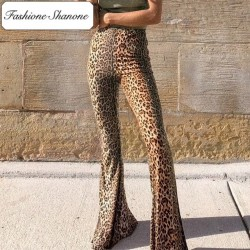 Fashione Shanone - Limited stock - Leopard flared pants