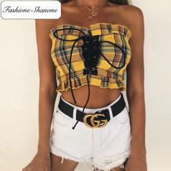 Fashione Shanone - Stock limité - Top bandeau plaid