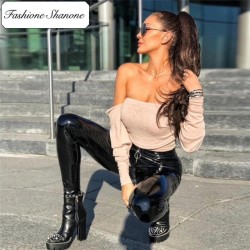 Fashione Shanone - Stock limité - Crop top à encolure Bardot