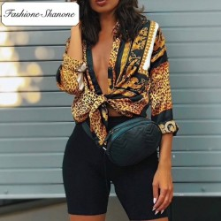 Fashione Shanone - Limited stock - Bling-bling leopard shirt