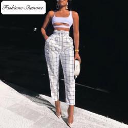 Fashione Shanone - Stock limité - Pantalon taille haute plaid