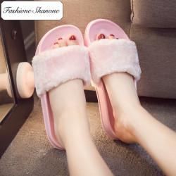Fashione Shanone - Limited stock - Fur flip flop