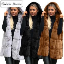 Fashione Shanone - Stock limité - Manteau en fourrure sans manche