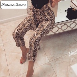 Fashione Shanone - Limited stock - Snake high waist pants