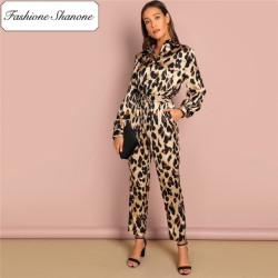 Fashione Shanone - Stock limité - Combinaison pantalon léopard