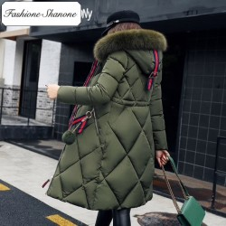 Limited stock - Long parka with fur hood