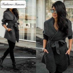 Fashione Shanone - Limited stock - Wrap woollen coat