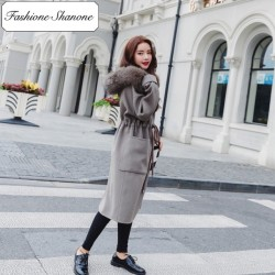 Fashione Shanone - Limited stock - Long coat with fur hood