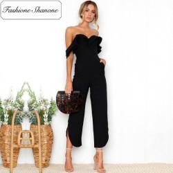 Fashione Shanone - Stock limité - Combinaison pantalon à encolure Bardot