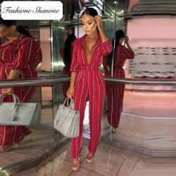 Fashione Shanone - Stock limité - Combinaison pantalon rayée