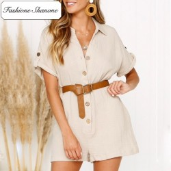 Limited stock - Buttoned playsuit