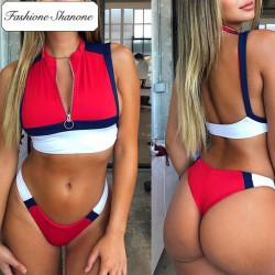 Fashione Shanone - Sportswear tricolor bikini