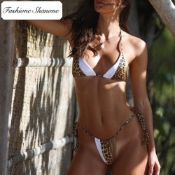 Fashione Shanone - Bikini tricolore léopard