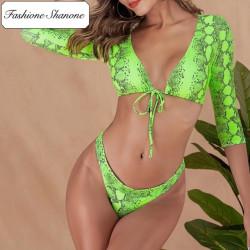 Fashione Shanone - 3/4 sleeves snake bikini