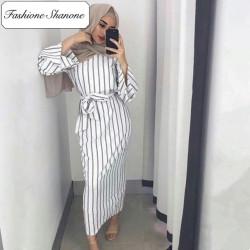 Fashione Shanone - Stripped muslim dress