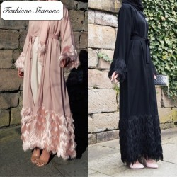 Fashione Shanone - Abaya à franges avec foulard assorti