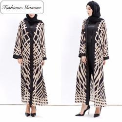 Fashione Shanone - Abaya noire et beige