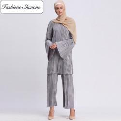 Fashione Shanone - Wide gray muslim set