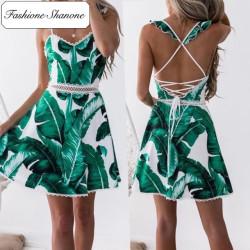 Fashione Shanone - Robe feuilles de palmier