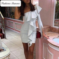 Fashione Shanone - Stripped asymmetric dress