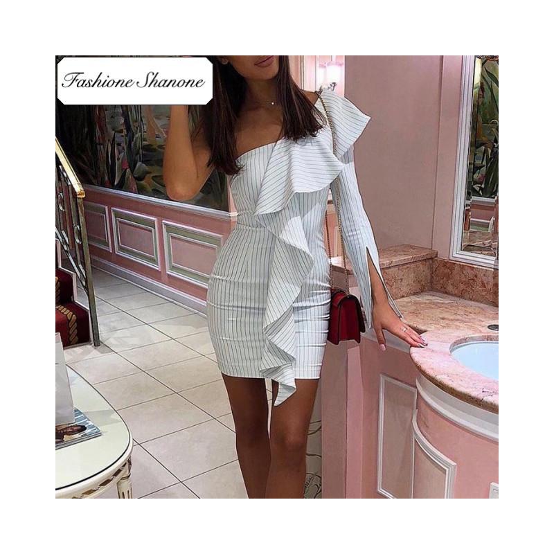 Fashione Shanone - Stripped asymmetric dress