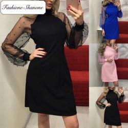 Fashione Shanone - Transparent sleeves dress
