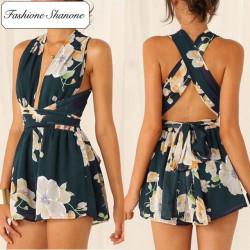 Fashione Shanone - Combinaison short fleurie