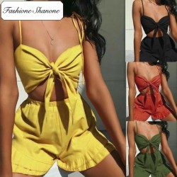 Fashione Shanone - Crop top and shorts set