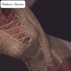 Fashione Shanone - Robe tricot dorée