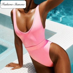 Fashione Shanone - Maillot de bain une pièce rose