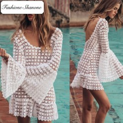 Fashione Shanone - Backless transparent beach dress