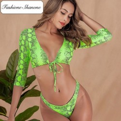 Fashione Shanone - Neon green snake bikini