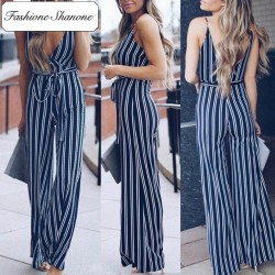Fashione Shanone - Stripped jumpsuit