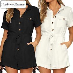 Fashione Shanone - Short sleeves romper