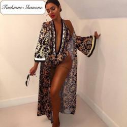 Fashione Shanone - Ensemble maillot de bain et kimono assortis