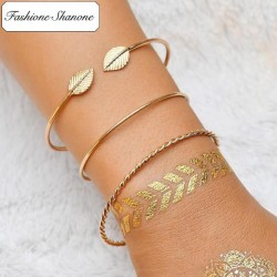 Less than 10 euros - Leaf 3 bracelets set