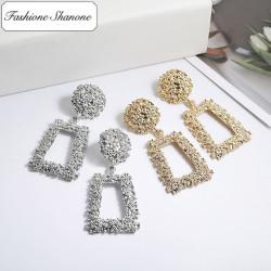 Less than 10 euros - Geometric vintage earrings
