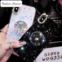 Fashione Shanone - Coque Iphone avec support téléphone en diamants