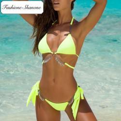 Fashione Shanone - Bikini jaune avec bijou