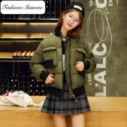 Fashione Shanone - Army green bomber down coat