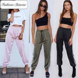 Fashione Shanone -Pantalon de jogging en satin