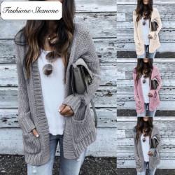 Fashione Shanone - Knit cardigan with pockets