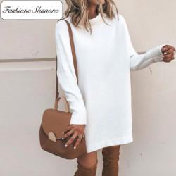 Fashione Shanone - White sweater dress