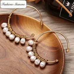 Fashione Shanone - Creole earrings with pearls