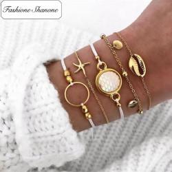 Fashione Shanone - Ensemble de 5 bracelets de plage