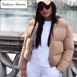 Fashione Shanone - Beige down coat