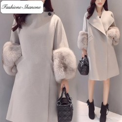 Fashione Shanone - Fur sleeves coat